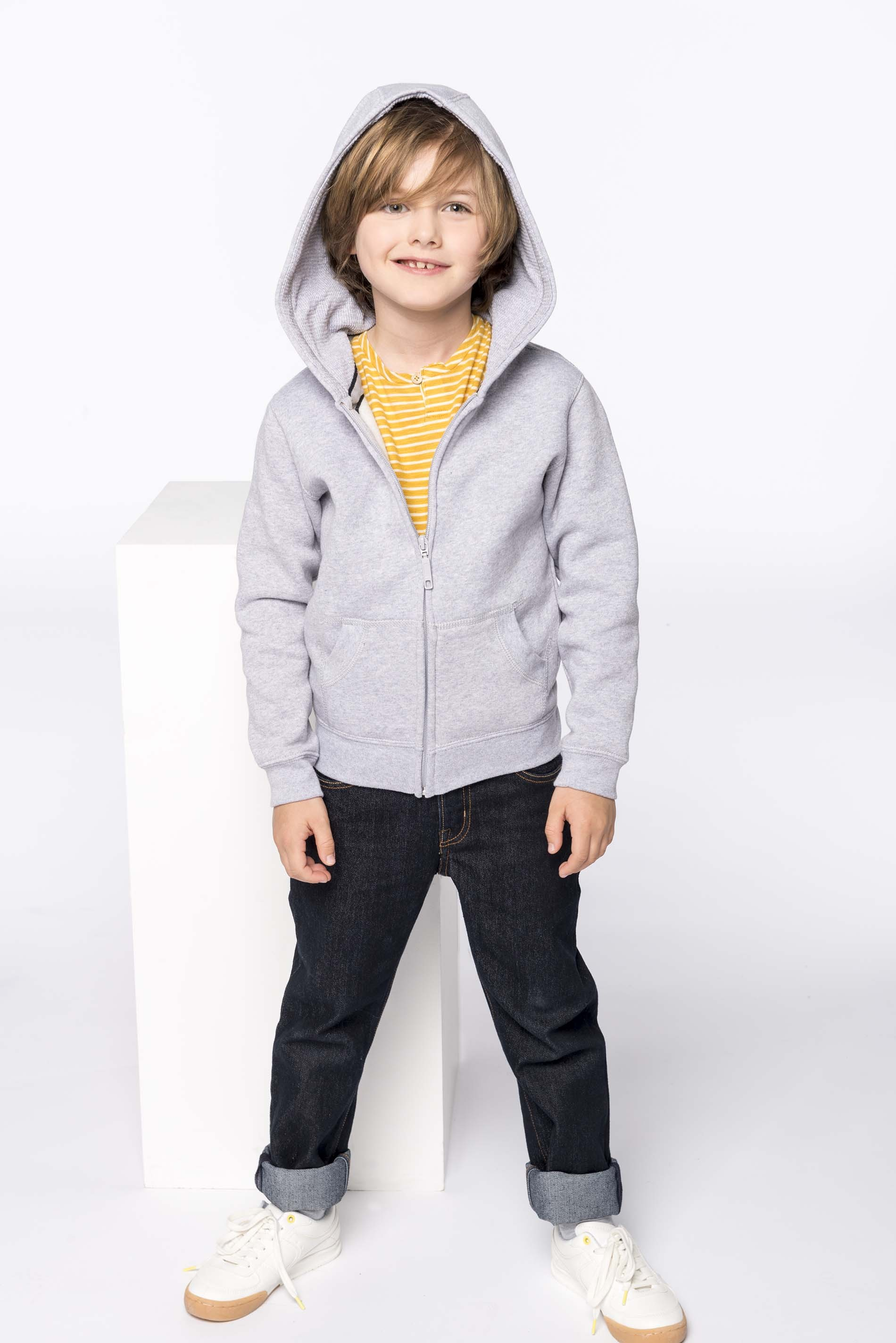Kids' full zip hooded sweatshirt bērnu jaka ar kapuci