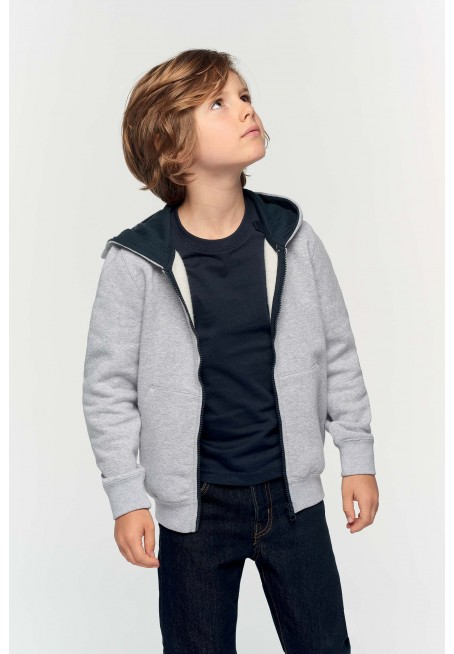 Kids' full zip hooded sweatshirt bērnu jaka
