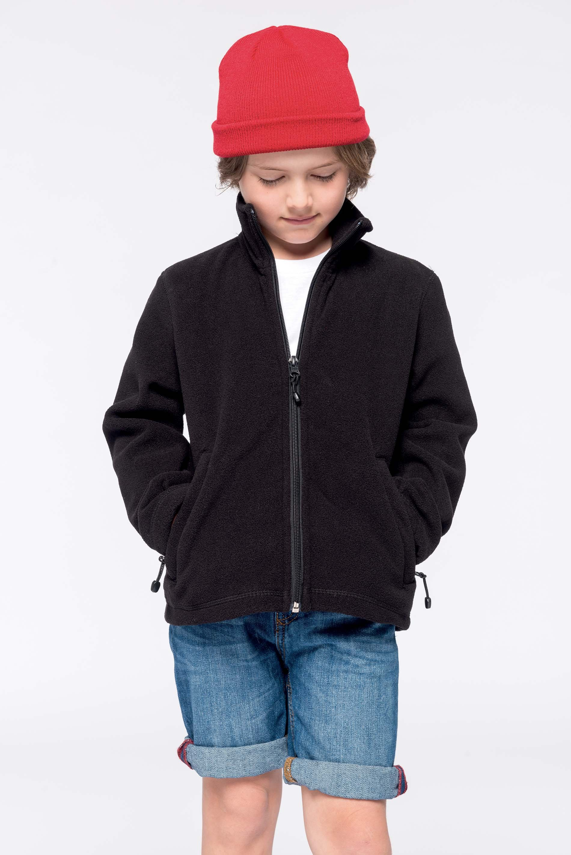 Kids' full zip fleece jacket bērnu flīsa jaka